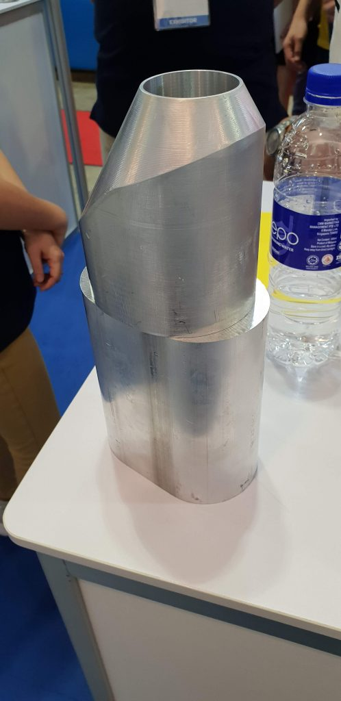 Talurit aluminum ferrules after crimping.